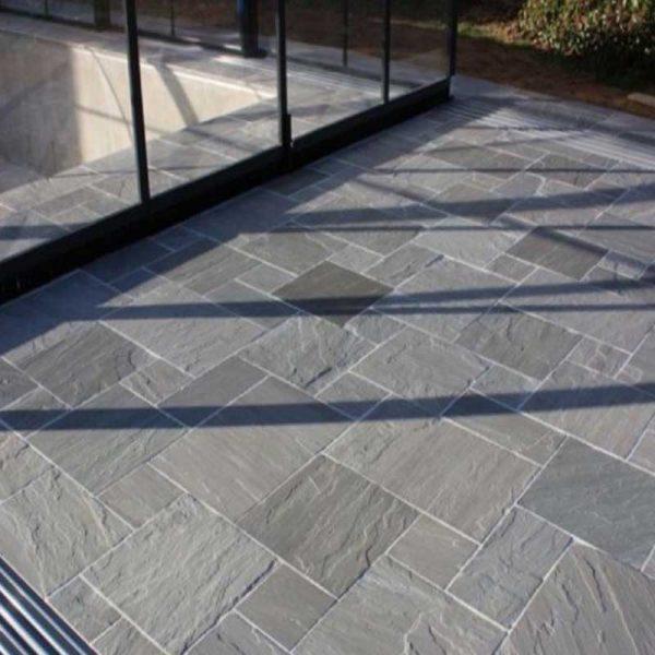 Sandstone Paving Patio Kandla Grey Calibrated Tumbled Packs