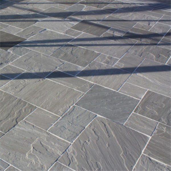 Kandla Grey Sandstone Paving Calibrated Tumbled Patio
