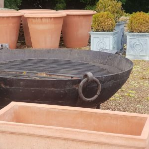 Antique Indian Fire Bowl Fire Pit