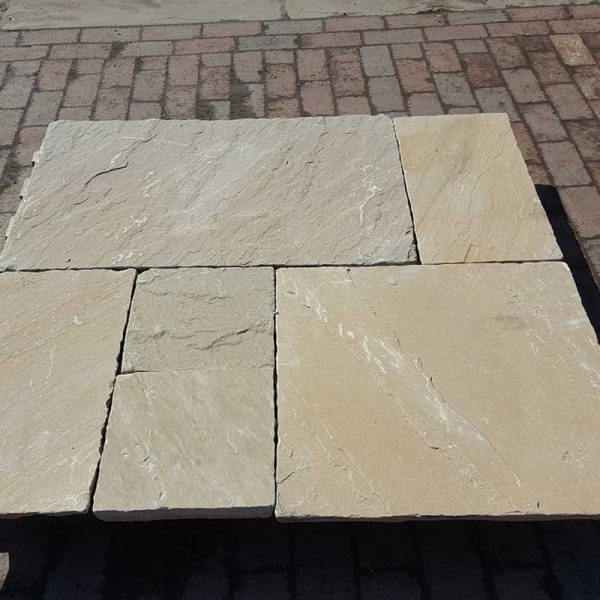 Sunset Buff Paving Patio Packs 30mm