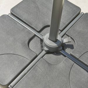 100kg concrete parasol base four part