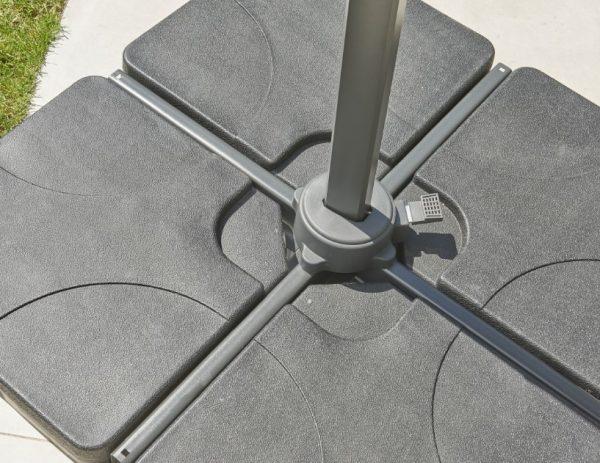 100kg concrete parasol base four part