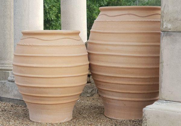 Handmade Terracotta Olive Jars for Planting Trees