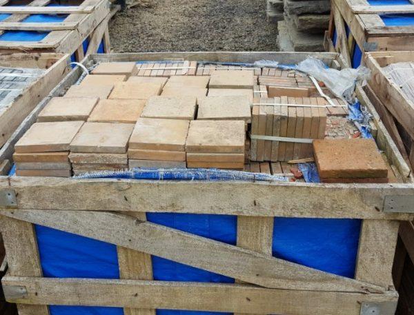 6 inch buff quarry tile reclaimed pallet