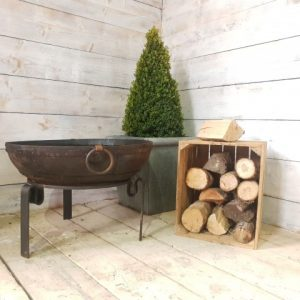70cm recycled fire bowl