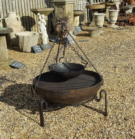 70cm recycled indian fire bowl