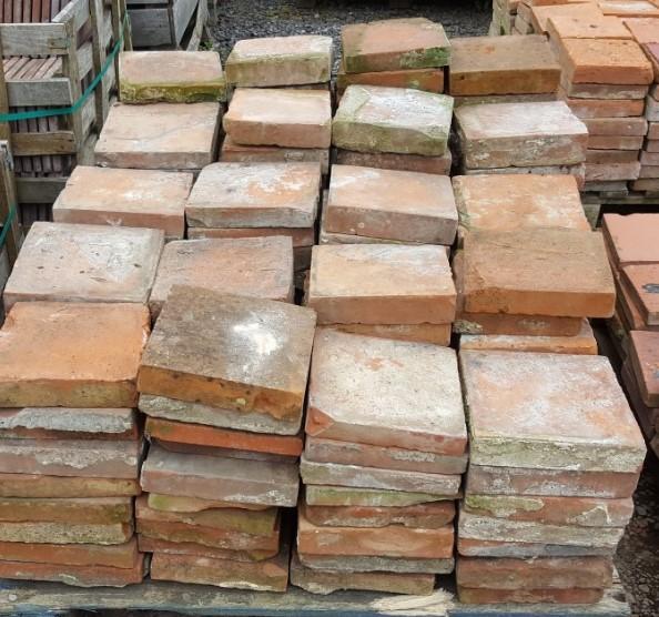 "Handmade Red Quarry Tiles 9"""