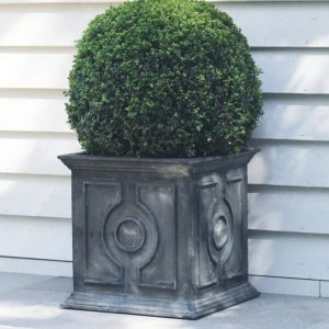 Belgian Circle Planter Zinc 50cm
