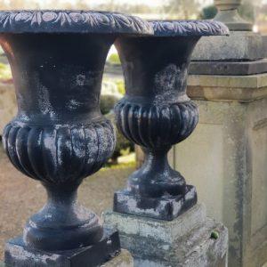 Black Cast Iron Urn