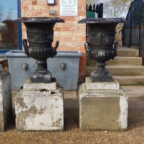 Black Cast Iron Urns