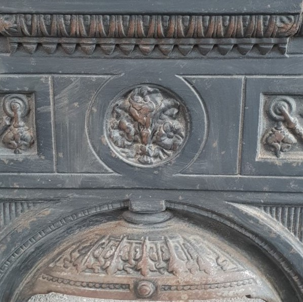 Decorative Cast Iron Victorian Fireplace