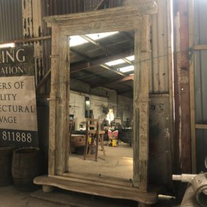 Decorative Teak Framed Mirror