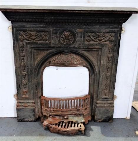 Cast Iron Victorian Decorative Fireplace