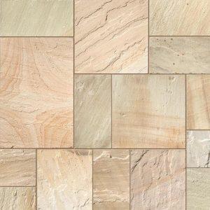 Fossil Mint Sandstone Paving