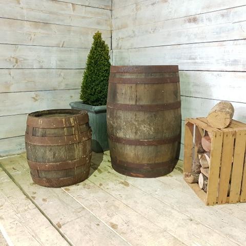 Reclaimed Oak Whiskey Barrel