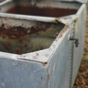 Galvanised reclaimed water trough