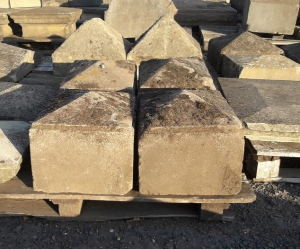 Gritstone Pyramid Style Reclaimed Pier caps