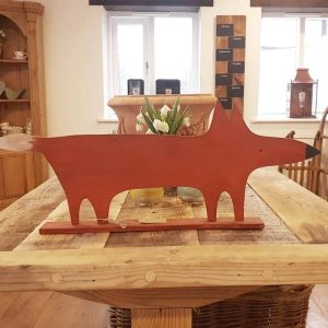 Handmade painted wooden Fox