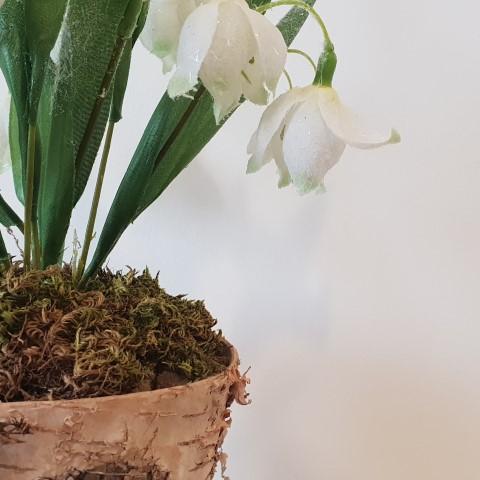 Handmade snowdrops pot (Small)