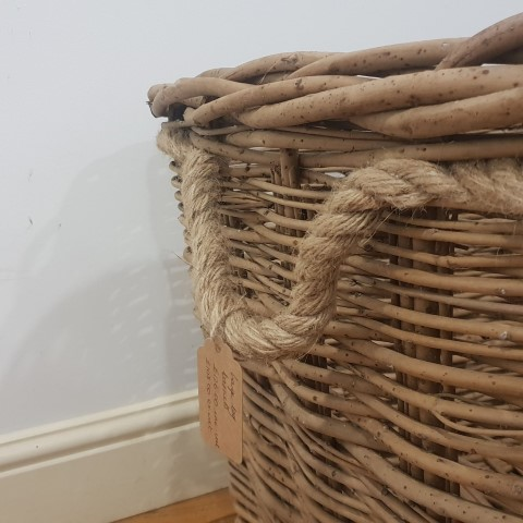 Large Log Basket with Rope handles (Small)