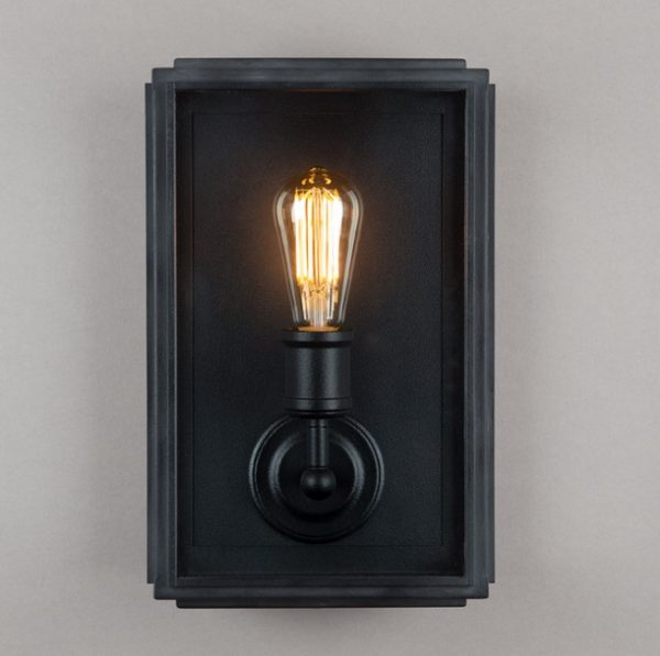 Black Outdoor Wall Light for Victorian or Georgian Home