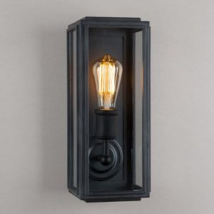 Slim Outdoor Wall Light in Traditional Style