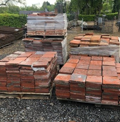 Machine made red quarry tiles