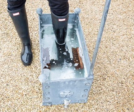 Metal Boot Wash for Muddy Wellies