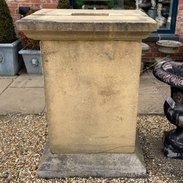 Pair of Large Solid Stone Plinths