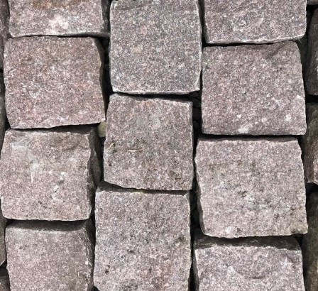 Pink Red Granite Setts For Sale