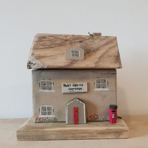 Handmade wooden cottage ornament