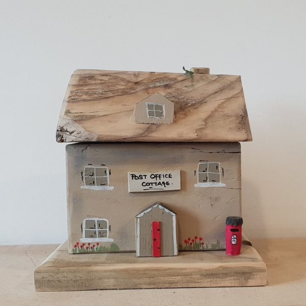 Handmade wooden cottage ornament