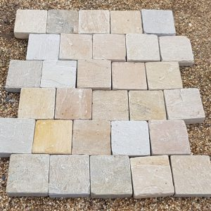 Block Paving Tumbled Raj Blend