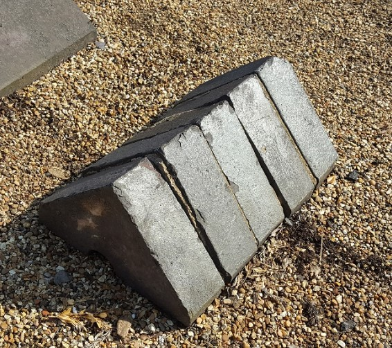 Reclaimed Blue Triangular Wall Coping