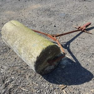 Reclaimed Granite Roller with Red Handle