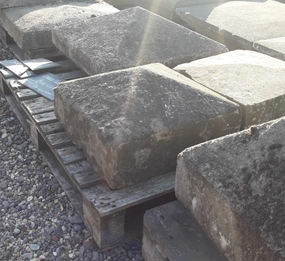 Reclaimed Pier Cap sandstone pyramid