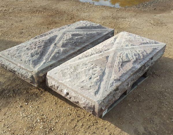 Reclaimed Sandstone Pillar Top Coping Step