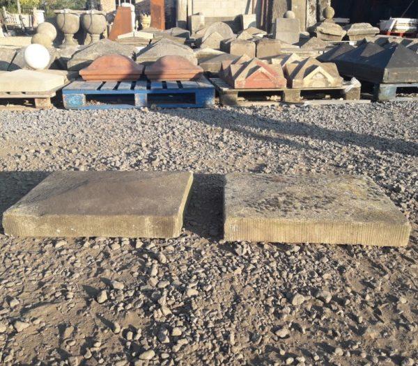 Reclaimed Sandstone Pyramid Pier Caps