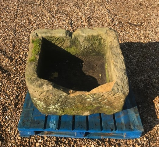 Reclaimed Sandstone Trough with damage