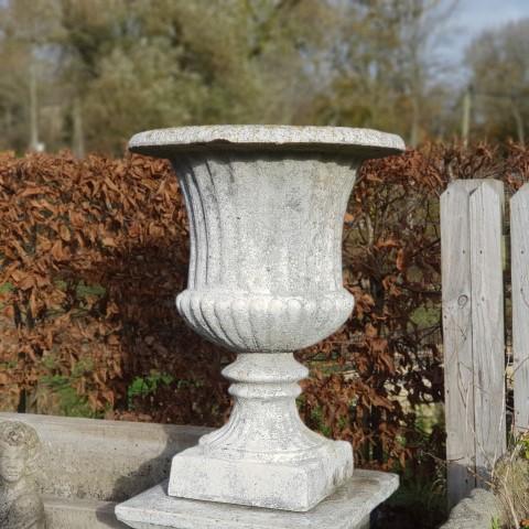 Reclaimed Stone Urn Planter