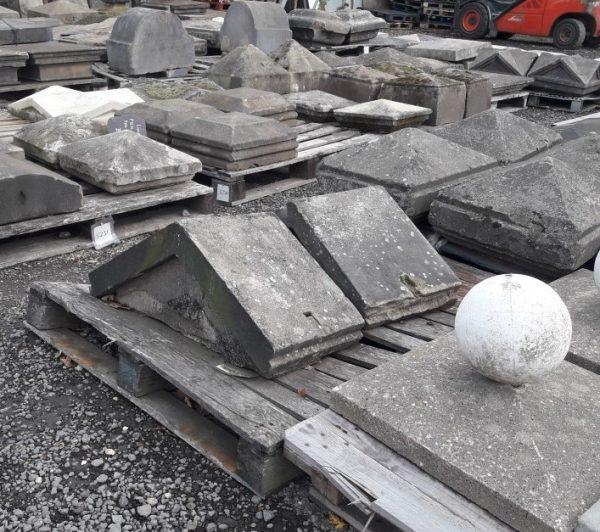 Reclaimed Triangular Stone Pier Caps