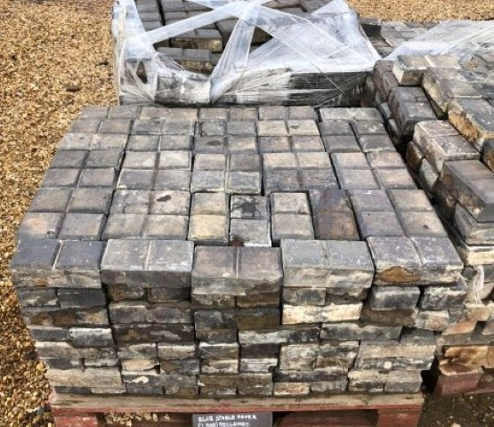 Reclaimed Small Victorian Blue Stable Pavers