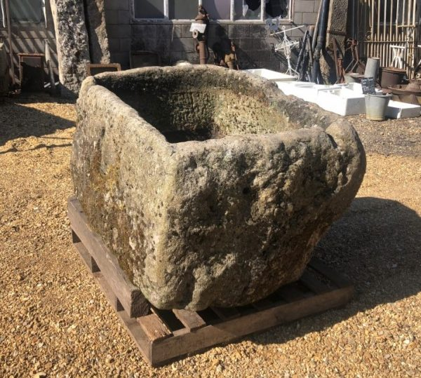 Reclaimed deep stone trough