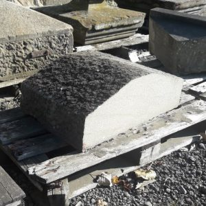 Reclaimed twice weathered yorkstone pier cap