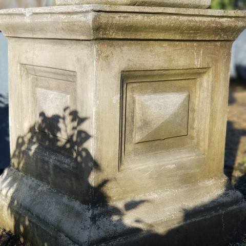 Reconstituted Georgian Style Stone Panelled Plinth