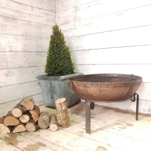 Recycled Kadai Style Indian Fire Bowl