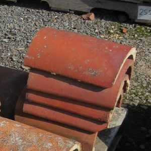 Red Half Round Clay Ridge Tile