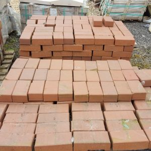 Red Paving Blocks Chamfered