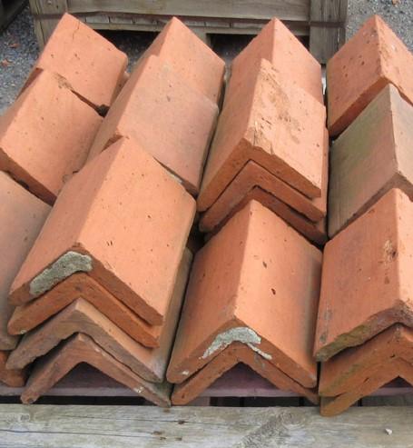 Red Triangular Clay Ridge Tile