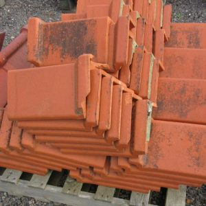 Red Triangular Interlocking Clay Ridge Tile